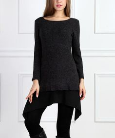 Love this Black Layered Sidetail Tunic by Reborn Collection on #zulily! #zulilyfinds