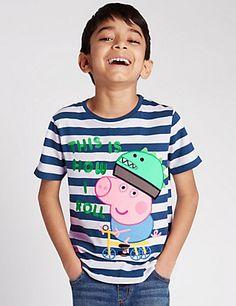 BOYS TODDLER KIDS EX M/&S GEORGE PIG SHORTIE PYJAMAS SHORTS AND T-SHIRT NIGHTWEAR
