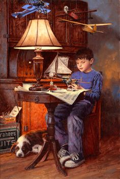 Jim Daly Americana Artist, Genre, Nostalgia paintings, Fine Arts Licensing