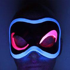 Black Light Reactive Glowing Leather Mask - Handmade. $69.00, via Etsy.
