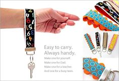 Diy back to school : DIY Key Fobs