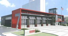 fire station design awards - Google Search - color scheme