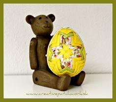 8 cm veľkonočné vajíčko, nešitý patchwork