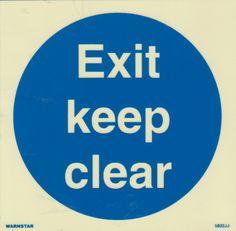 Marine Mandatory Sign: Exit Keep Clear