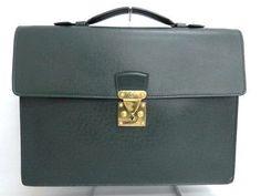 Auth Louis Vuitton Business Bag Briefcase Taiga Moscoba Green 36141229200 jF (eBay Link)