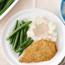 Pass the mashed potatoes, gravy and green beans with this full southern fried chicken breast dinner recipe.
