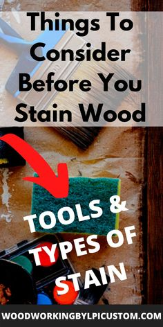 We are excited to provide to you our wood staining technique ideas.  If you have experienced wood stain blotching on your DIY wood projects, we can relate.  In this article we show you the best way to apply stain to wood utilizing the best wood staining techniques tutorials for the best outcome of your woodworking projects. #woodstain #woodworking #diy #diyproject #tablebuild #furniturebuild #woodworkingtechnique Wood Staining Techniques, Woodworking Techniques, Woodworking Projects, Diy Wood Signs, Painted Wood Signs, Water Based Wood Stain, Different Types Of Wood, Wood Gifts, Diy Wood Projects