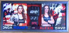 Framed Kickboxing Glove Signed by Ronda Rousey & Alexis Davies
