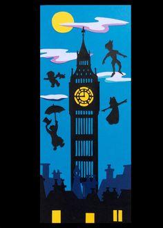 Post Peter Pan Big Ben by SmagArt on Etsy https://www.etsy.com/listing/268540668/post-peter-pan-big-ben
