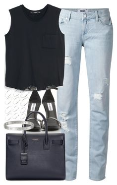 """Untitled #3487"" by plainly-marie ❤ liked on Polyvore featuring Paige Denim, MANGO, Yves Saint Laurent and ASOS"