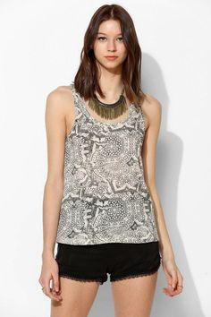 UO Graphic Twist-Neck Racerback Tank Top #urbanoutfitters