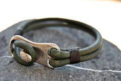 Men bracelet leather men bracelet Men's leather by FosforStore, $23.00