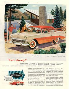1956 Chevrolet 1957 Chevy Original Car and Truck Print Ad
