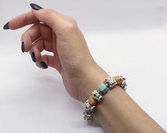 Charm-Bracelet Sommerwiese | Etsy Beaded Bracelets, Charmed, Jewelry, Handmade, Wristlets, Silver, Jewlery, Jewerly, Pearl Bracelets
