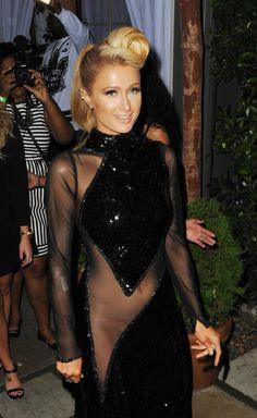 Paris Hilton pre Grammys bash | Paris Hiltons Forgets To Wear Underwear At P Diddy's Pre-Grammy Party