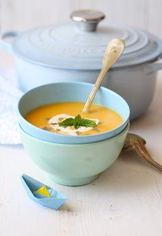 Crema de calabaza y curry
