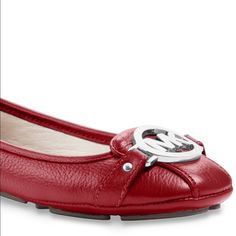NEW Michael Kors Fulton Shoes : Color Red!!! New Michael Kors Red Fulton Shoes. Color is Red. Size 9 Michael Kors Shoes Flats & Loafers