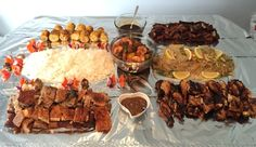 Boodle fight for my birthday Boodle Fight, Boodles, Some Recipe, Love Food, Food Ideas, Beef, Birthday, Recipes, Meat
