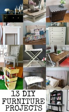DIY Furniture Projects via Remodelaholic.com