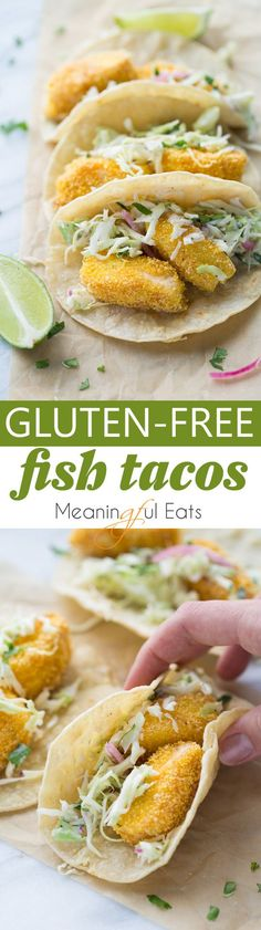 Gluten-Free Fish Tacos! Crispy, flavorful and easy to make! (Dairy-Free) (Gluten Free Recipes Celiac)