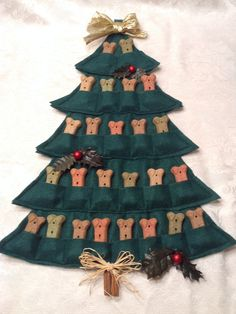 Puppy Treat TreeAdvent Calendar by HandMadeInMadison on Etsy, $18.00
