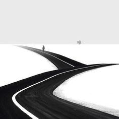 Minimalist black-and-white photos | by Hossein Zare