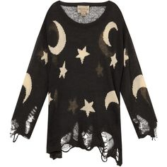 WILDFOX Night Owl Lenon Sweater (€290) ❤ liked on Polyvore featuring tops, sweaters, shirts, long sleeves, ripped shirts, extra long sleeve shirts, owl top, long sleeve tops en long sleeve sweaters