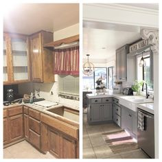 Behr paint! Kitchen cabinets are ocean swell and walls are ...