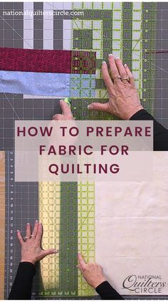 Preparing fabric for quilting is one of the first steps in learning how to piece a quilt. Toby Lischko shows you how to prepare you fabric for accurate cutting of long strips and smaller pieces. Quilting Fabric, Quilting Tips, Quilting Tutorials, Quilting Projects, Sewing Projects, Sewing Basics, Sewing Tips, Sewing Hacks, Quilt Border