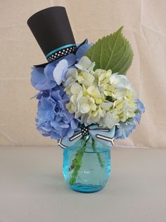 Top Hat and Bow Tie Baby Shower Theme! My baby shower centerpiece!