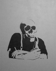 stencil skull