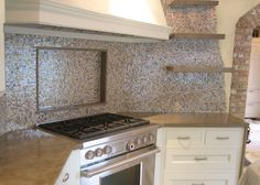 Concrete countertops with some sparkle!
