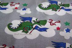 Jersey JANEAS WORLD Drachen Dragon Sterne Stars Wolken Meterware ab 25cm x 160cm
