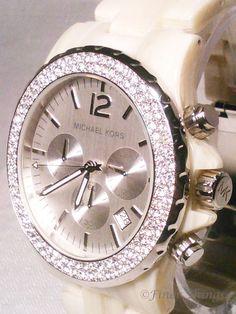 Michael Kors Madison Horn & Swarovski Crystals Glitz Watch