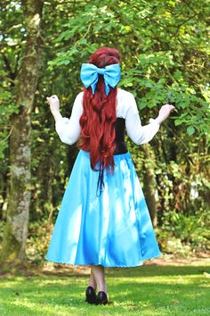Little Mermaid 'Kiss The Girl' Cosplay - Ariel's blue dress on land was always my favourite! Little Mermaid Cosplay, Little Mermaid Costumes, Ariel Costumes, The Little Mermaid, Disney Cosplay, Ariel Cosplay, Cosplay Dress, Couples Cosplay, Superhero Cosplay