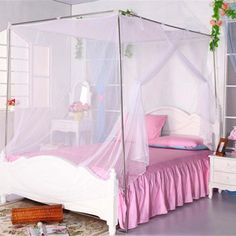 Classical Students Outdoor Hang Dome Mosquito Nets Square Insect Bed Canopy Netting Curtain Insecticide Treated #Affiliate