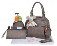 """Mon croco bag"" Taupe Taupe, Ranger, Fashion, City Bag, Baby Bottles, Changing Bag, Bebe, Leather, Accessories"