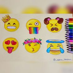 Create your own emojis Pretty Drawings, Beautiful Drawings, Easy Drawings, Emoji Love, Cute Emoji, Emoji Drawings, Disney Drawings, Smileys, Social Media Art
