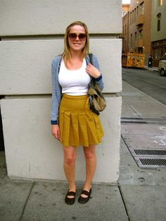 simple and cute.  her shoes look like campers.  which i love.