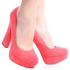 Pink-Suede Retro 70S Pumps Womens Chunky High Heel Platform Shoes