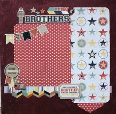 Brothers 12x12 Scrapbook Layout by beautifuldelights,