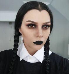 Wednesday Adams | Halloween Makeup Look ❤ Source: @kristytheodoremua
