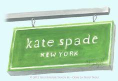 Kate Spade Illustration by Illustrator Sandy M ~ Ooh La Frou Frou http://oohlafroufrou.blogspot.com #Art #Illustration #Fashion