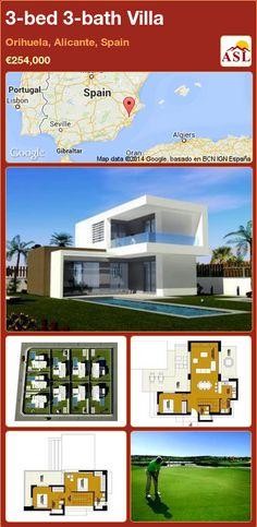 3-bed 3-bath Villa in Orihuela, Alicante, Spain ►€254,000 #PropertyForSaleInSpain