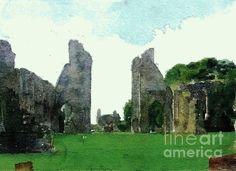 Glastonbury Abbey Ruins in Glastonbury, England.