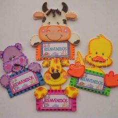 Bienvenidos Crafts To Do, Paper Crafts, Distintivos Baby Shower, Free Applique Patterns, Projects To Try, Teddy Bear, Activities, Christmas Ornaments, Holiday Decor