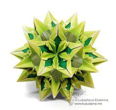 Kusudama Me! - Modular origami! Mais um pap!