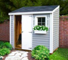 Backyard Storage Sheds, Storage Shed Plans, Backyard Sheds, Outdoor Sheds, Backyard Landscaping, Small Outdoor Shed, Garden Storage Shed, Outside Storage Shed, Shed Makeover