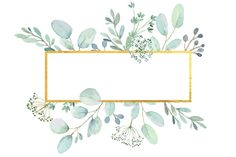 Greenery Frames and Wreaths Watercolor Clip Art Eucalyptus Watercolor Leaves, Watercolor Texture, Floral Wreath Watercolor, Green Watercolor, Watercolour, Flower Background Wallpaper, Flower Backgrounds, Flower Graphic Design, Web Design