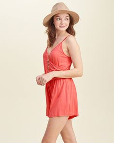 The airy silhouette with a form-flattering waist, a wrap front design, a V neck and adjustable shoulder straps, Flirty Fit, Imported